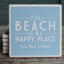 The Beach is My Happy Place Venice Coaster