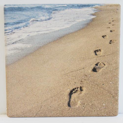 Footprints in the Sand Cross - Religious Beach Decor - California ...