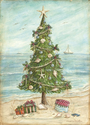 beach tree christmas card - Beach Christmas Cards