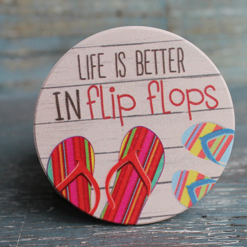Life Is Better At The Beach Absorbent Beverage Coaster