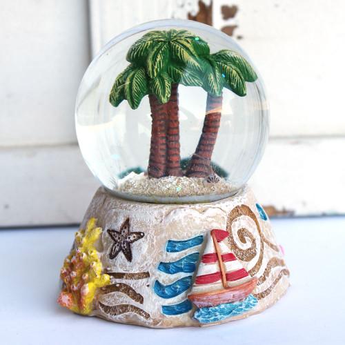 Palm Trees Snow Globe