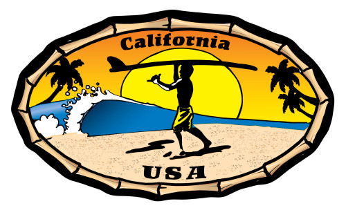 California Endless Summer Absorbent Beverage Coaster