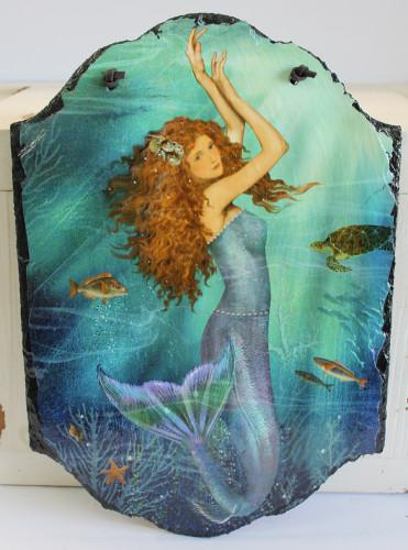Magic Mermaid Decorative Slate Nautical Wall Decor