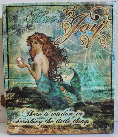 Mermaid Thoughts Canvas Set Nautical Beauty Of The Sea
