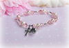 """CJ-498 Pink Crystals and Pearls Baby Bracelet 5"""""""