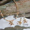 OC-55  Swarovski Starfish Earrings Fabulous!