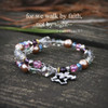 IN-124  For we walk by faith...Crystals, Beads and Fabulous wrap Bracelet