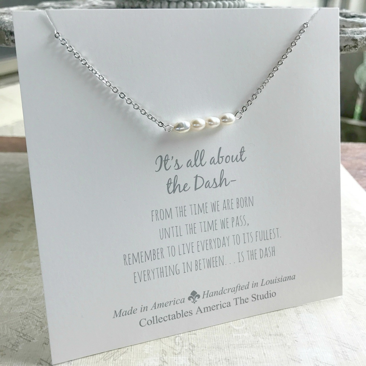 DA-1  Freshwater Pearls All about the Dash Necklace