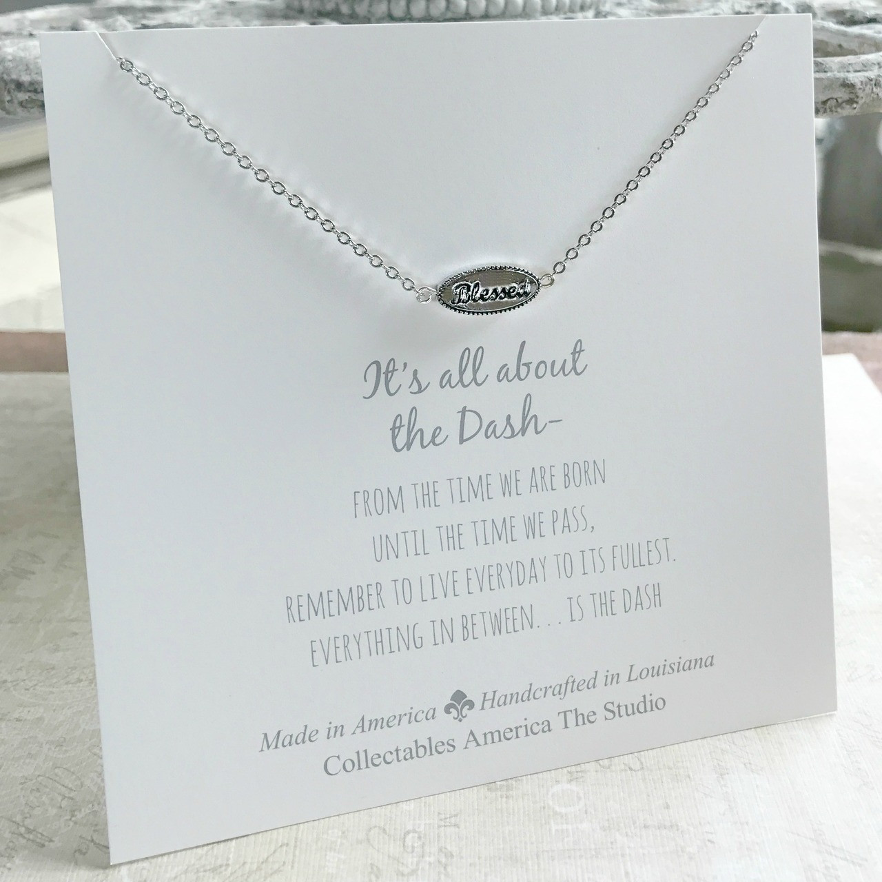 """DA-2  """"Blessed"""" It's all about the Dash Necklace"""