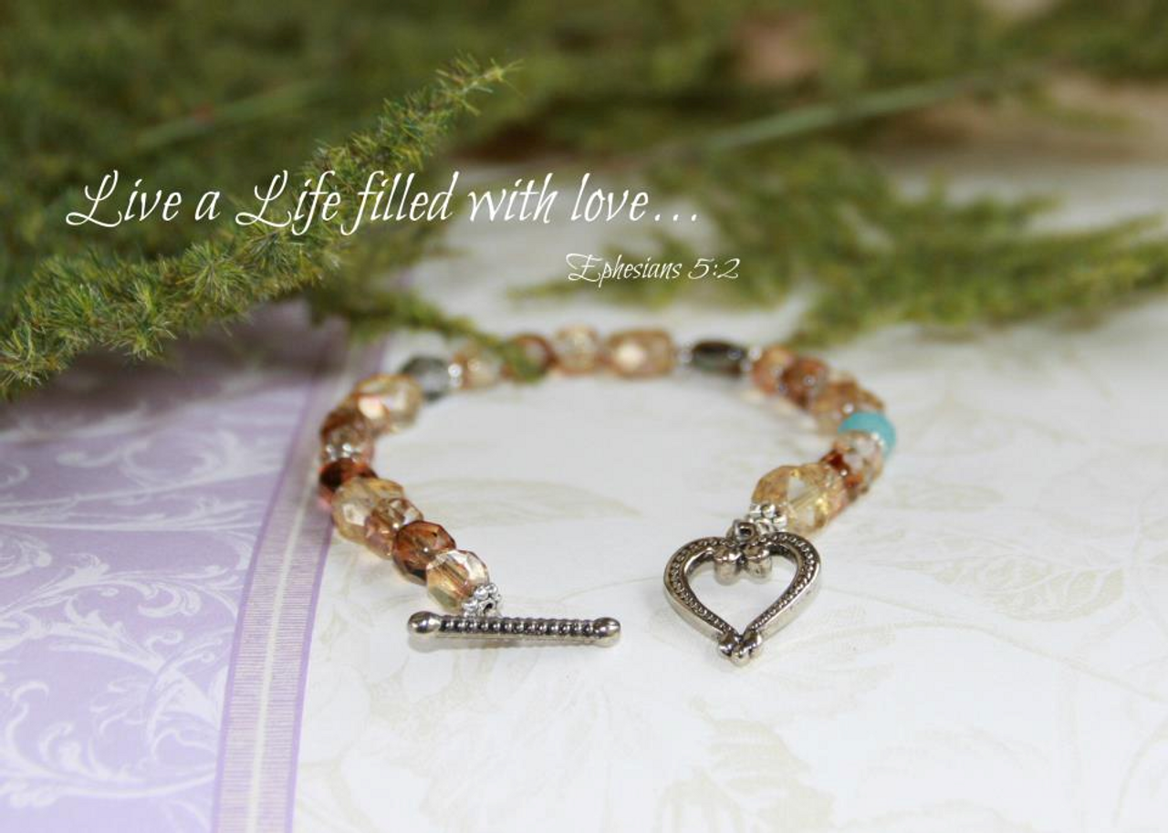 IN-296 Live a life of filled with Love Bracelet