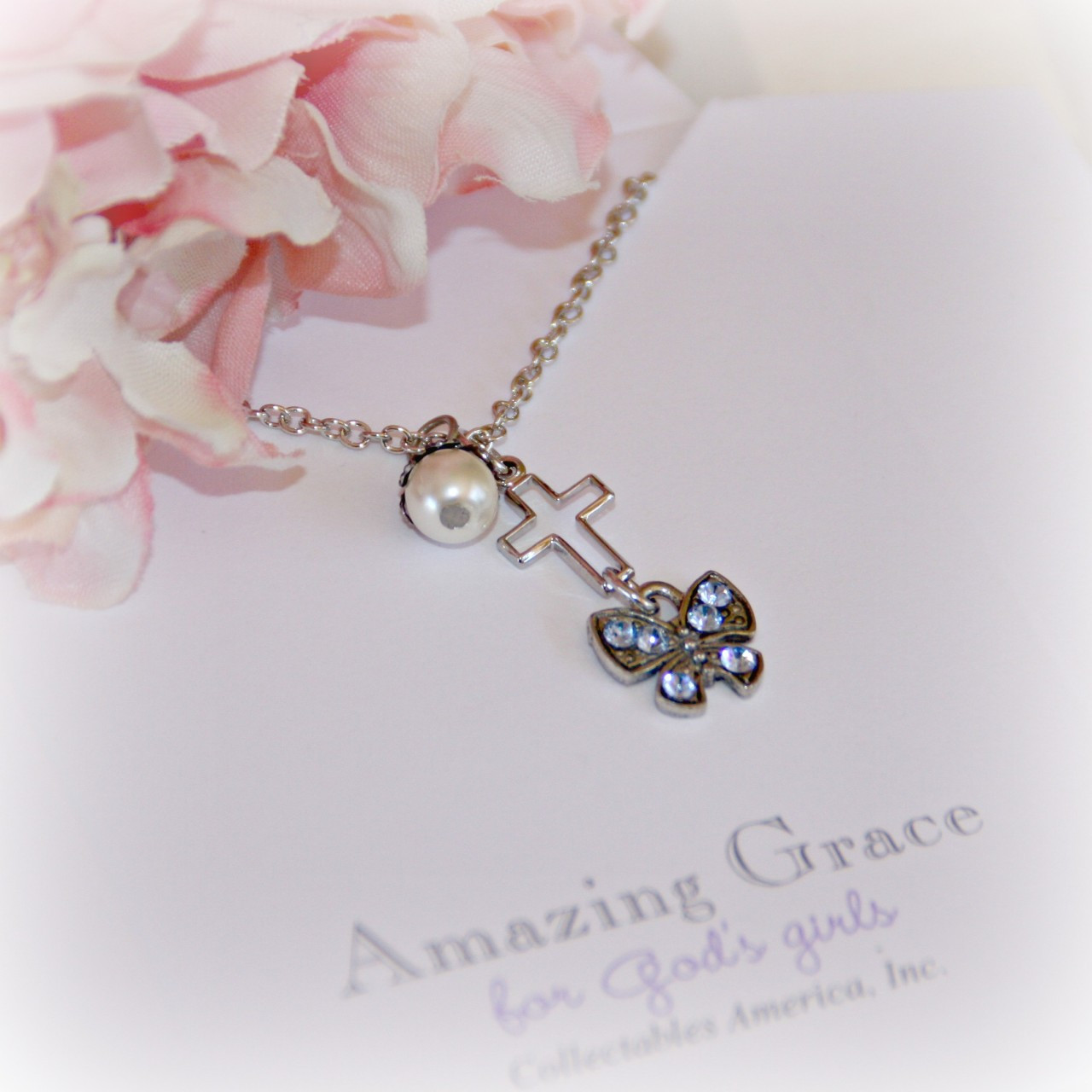 GG-11  Amazing Grace Cross and Butterfly