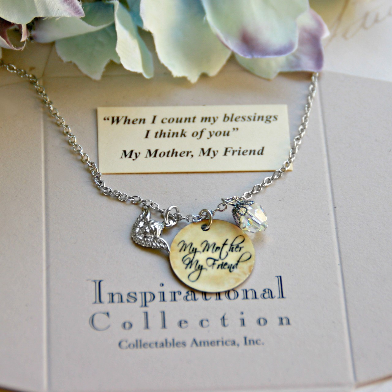 IN-490 My Mother, My Friend Charm Necklace