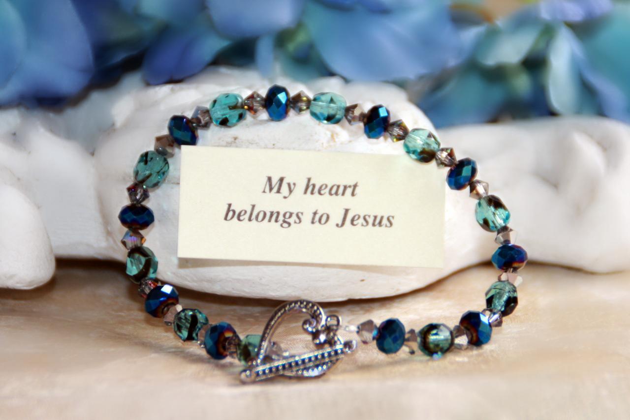 IN-341 My heart belongs to Jesus bracelet