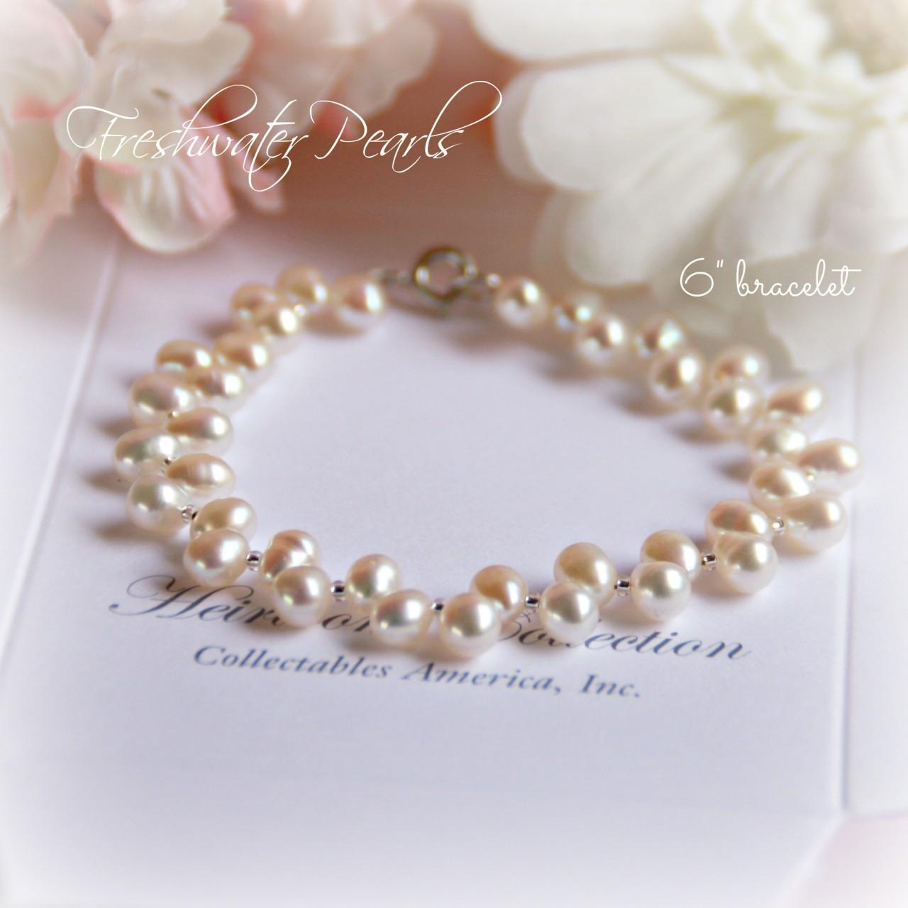 """CJ-310-6 Freshwater Pearl Bracelet 6"""" size"""