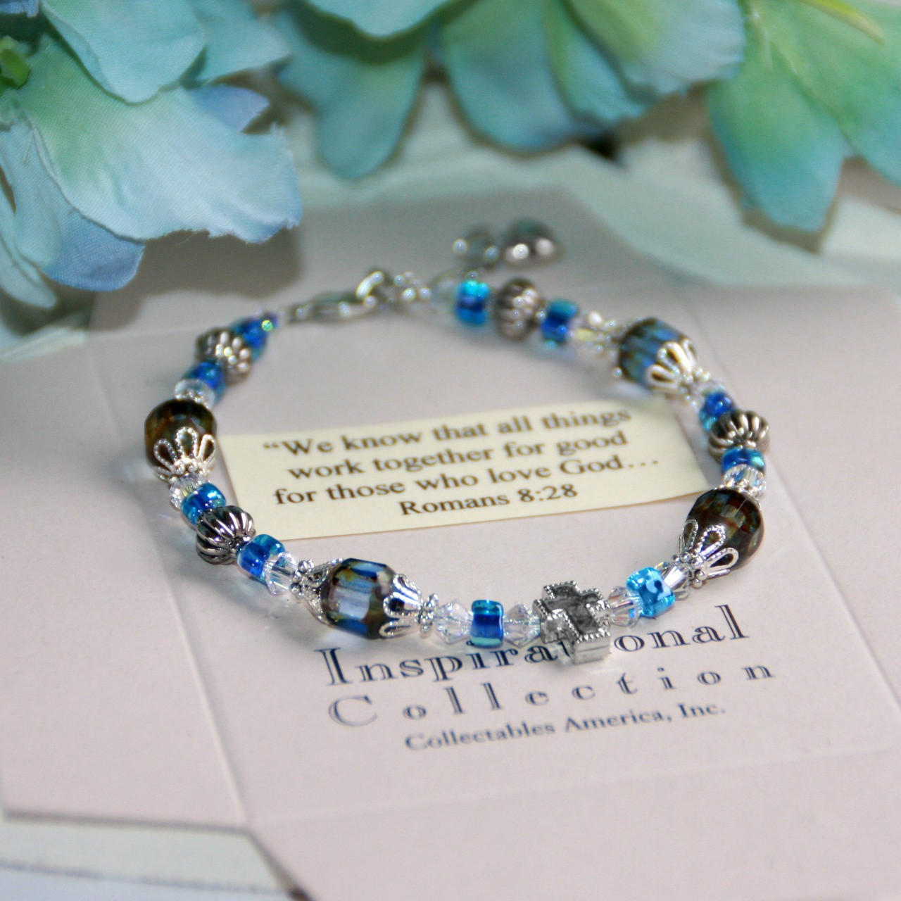 IN-130 Blue...We know that all things work together Bracelet