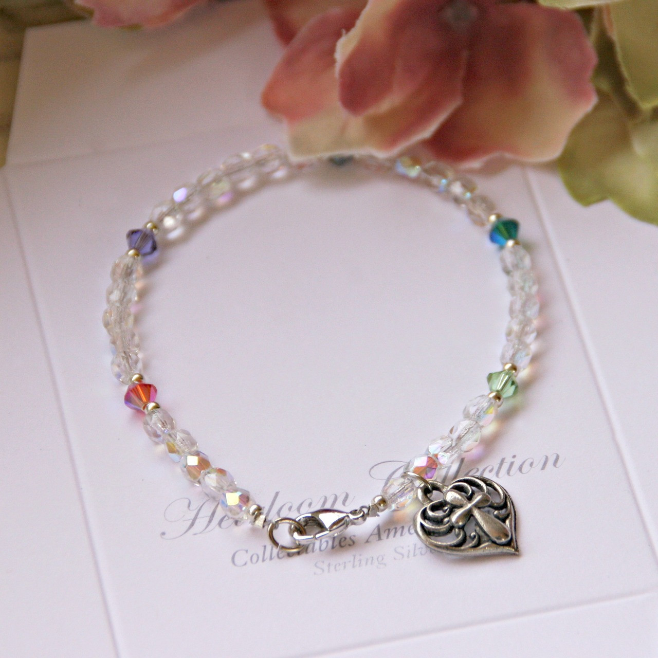 GG-40  Beautiful Crystal AB mixed with Swarovski Crystals Bracelet