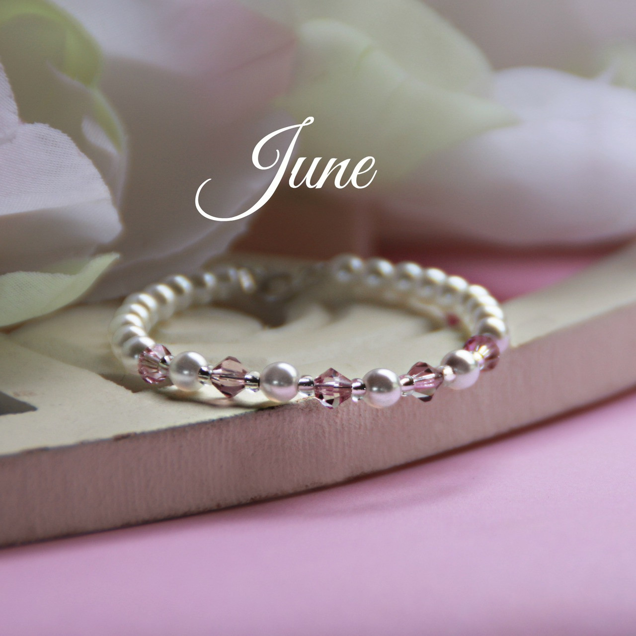 CJ-134  June Birthstone Bracelet 5""