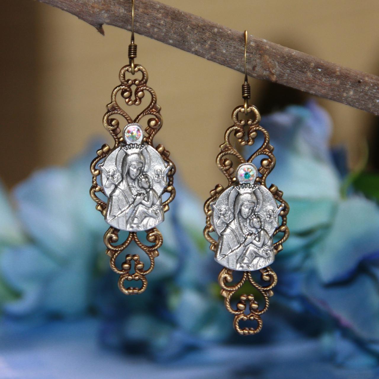 IN-50  Our Lady of Fatima Beautiful Earrings