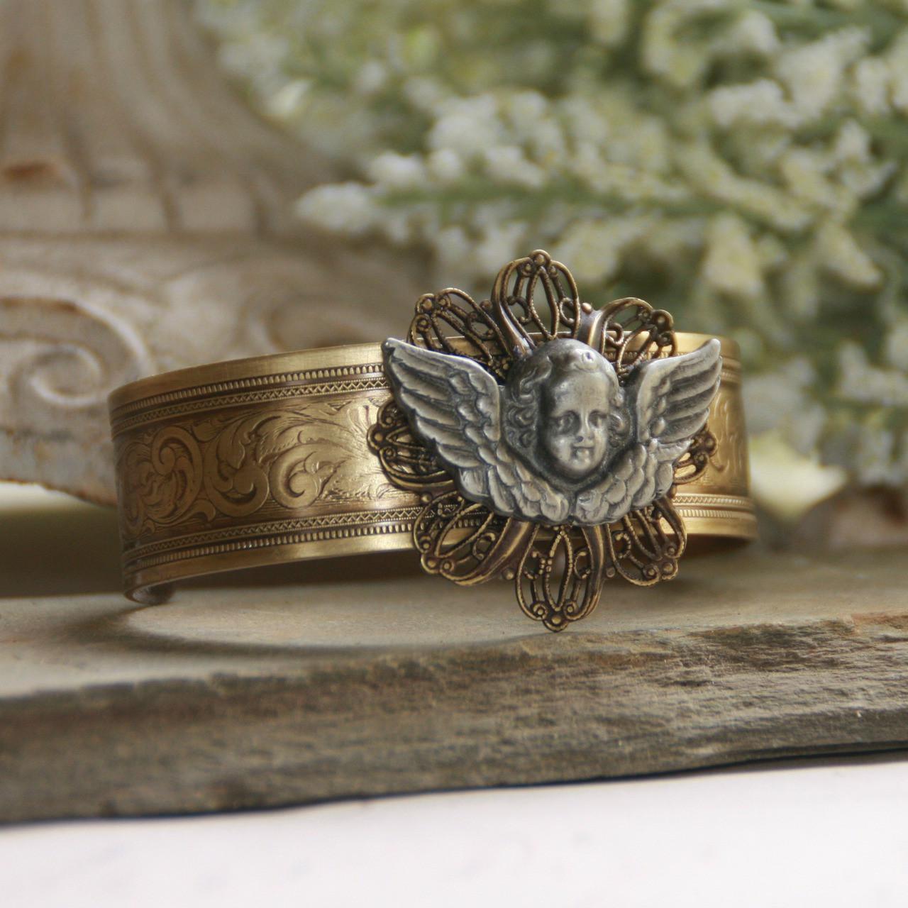 ART-144 A Sweet Angel to Watch Over You Cuff Bracelet