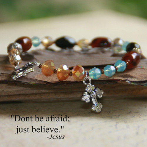 IN-179   Beautiful Multi-Color Tone Beaded Bracelet