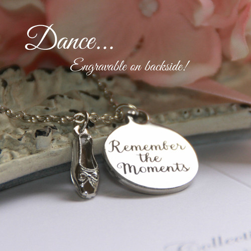 CJ-536  Remember the Moments Dance Charm Necklace