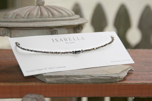 CH-5  Hematite So Sophisticated Beaded Choker