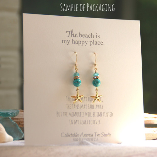 OC-13 Oh so Pretty Starfish Earrings