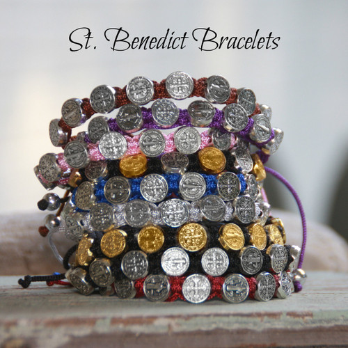 IN-166C  St. Benedict Bracelet Selection of Colors Bracelets