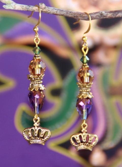 FER-359 Designers Favorite Mardi Gras Earrings