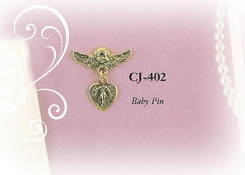 CJ-402 Angel Baby Pin Gold Finish