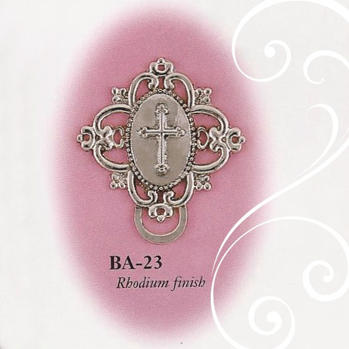 BA-23 Fancy Cross Paci Holder