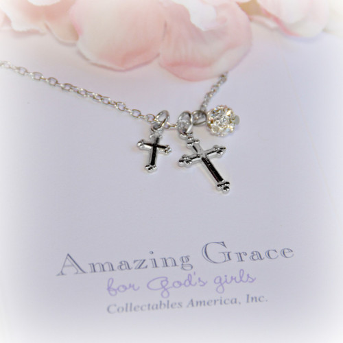 GG-4  Amazing Grace Crosses Crystal Drop