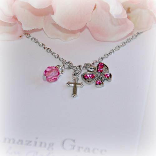 GG-9  Amazing Grace Pink Butterfly