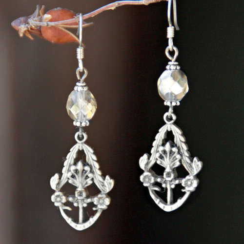 FER-377  Platinum Style Earrings