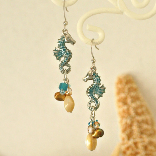 OC-36  Seahorse Earrings