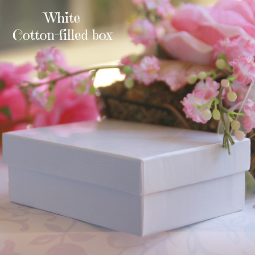 White Cotton-filled Boxes for Child Line