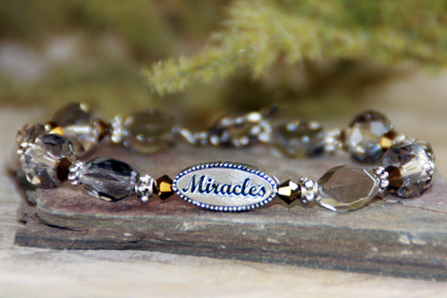 IN-248 Miracles bracelet silver tone
