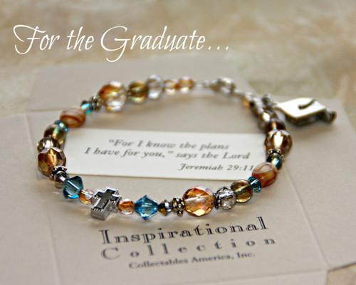 IN-107 Jeremiah 29:11 Graduate Charm Bracelet