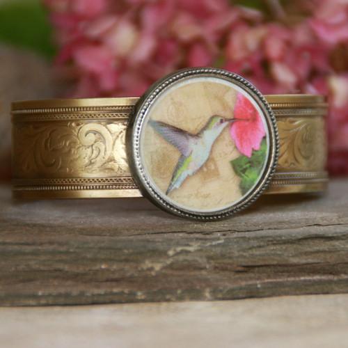 ART-119 Hummingbird Cuff Bracelet ART Collection