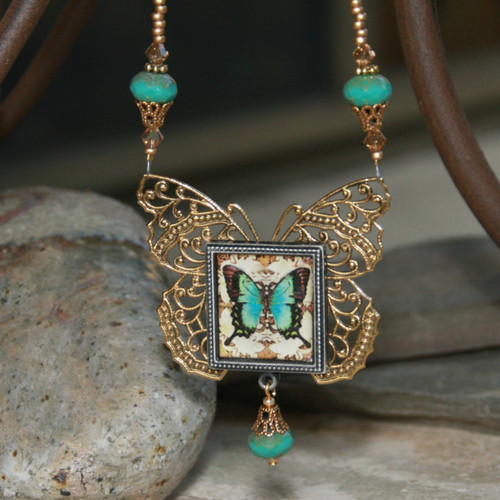 ART-201 Elegant Butterfly Necklace from ART Collection