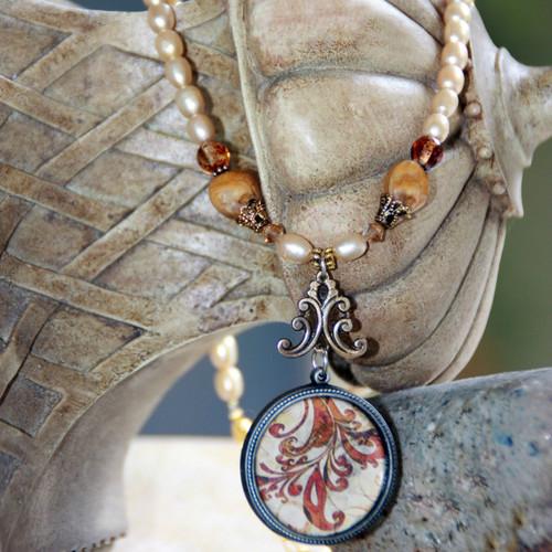 ART-206 Elegant Vintage Style ART Collection Necklace