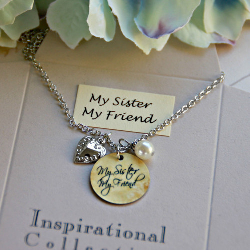 IN-485 My Sister, My Friend charm Necklace