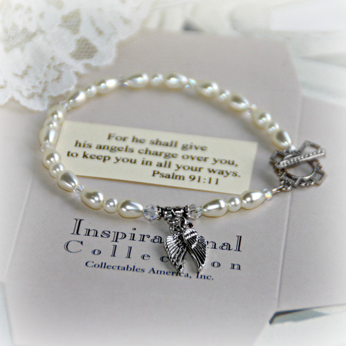 IN-119 Angel Wings Message Bracelet