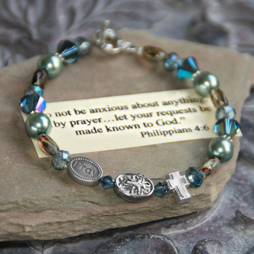 IN-120 Do not be anxious about anything...stunning colors bracelet