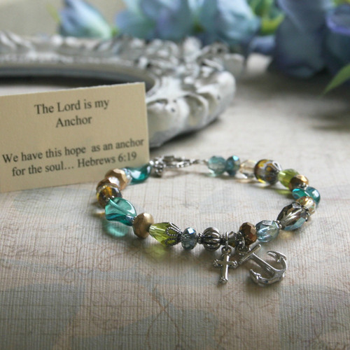 IN-149  The Lord is my Anchor Bracelet