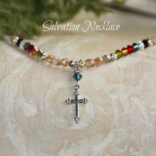 "IN-613 ""Salvation"" Swarovski Crystal Necklace"