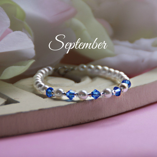 CJ-137 September Birthstone Bracelet 5""