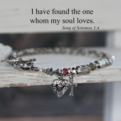 IN-169  Song of Solomon My Soul loves Bracelet