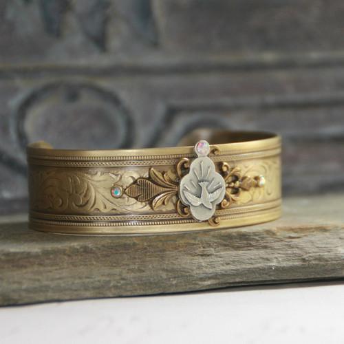 ART-143  Dove Beautiful Cuff Bracelet