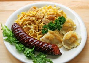 Polish Dinner Platter w/Kielbasa